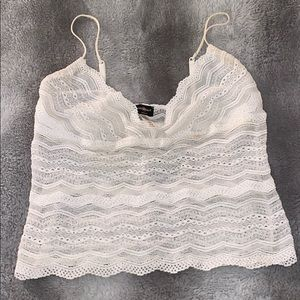 Cosabella white lace tank top